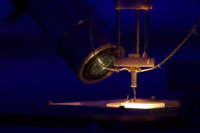 Un des microscopes en champ proche optique développé dans le groupe