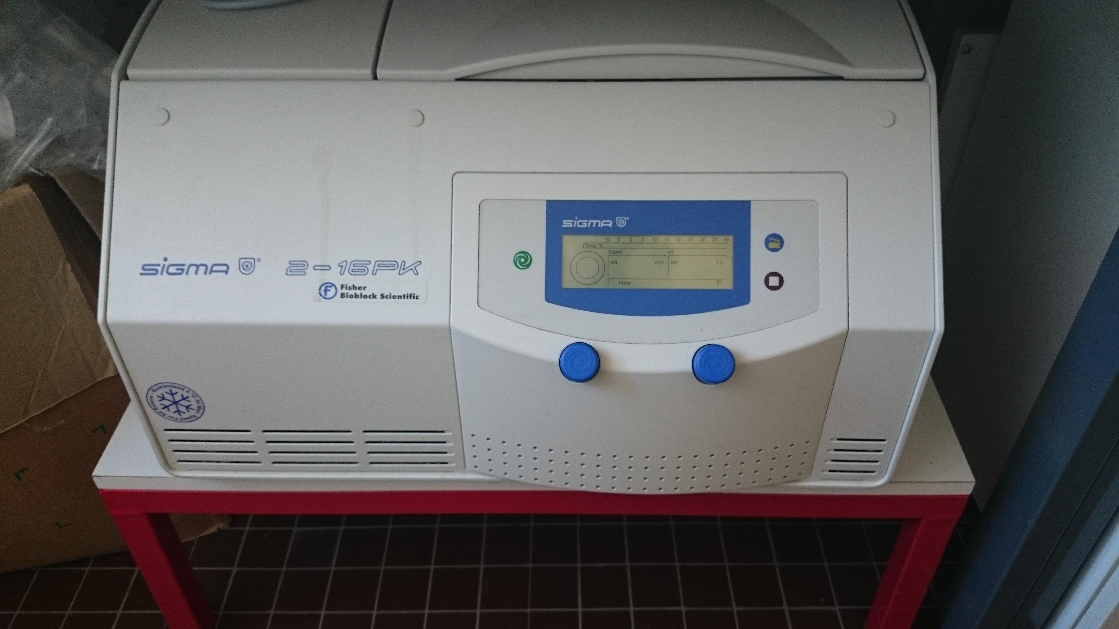 Centrifugation: Sigma 2-16PK & Thermo Heraeus Multifuge X1R centrifuges