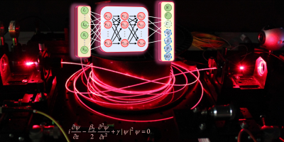 Artificial intelligence to predict the non-linear propagation of pulses in optical fibers